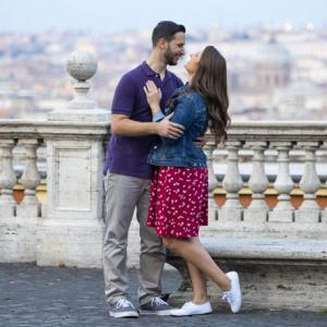 Romantic destination engagement session