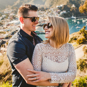 Santa Catalina island engagement session