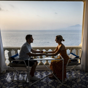 Happily engaged by the Sorrento seaside