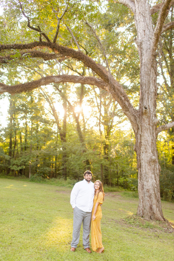 Sweet outdoor engagement session