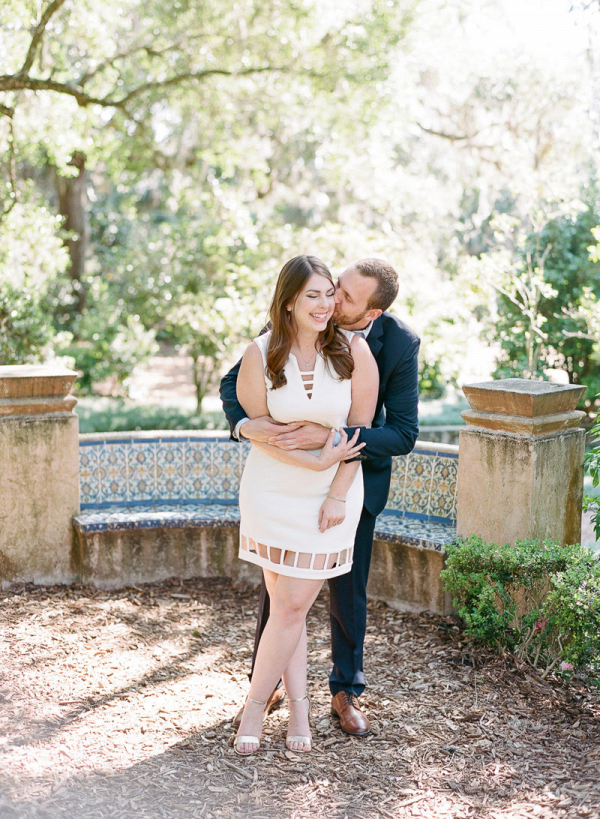 Timeless florida garden engagement session