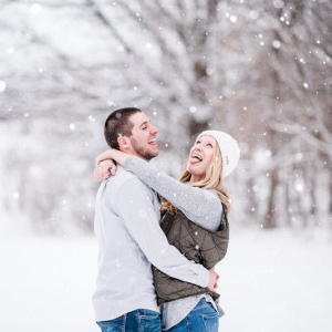 Snowy Wisconsin engagement session