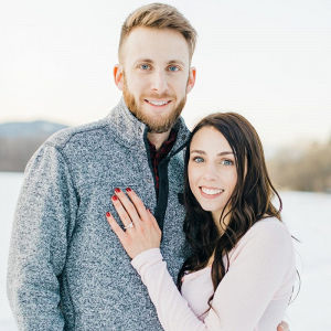 Wintry mountain proposal in New Hampshire