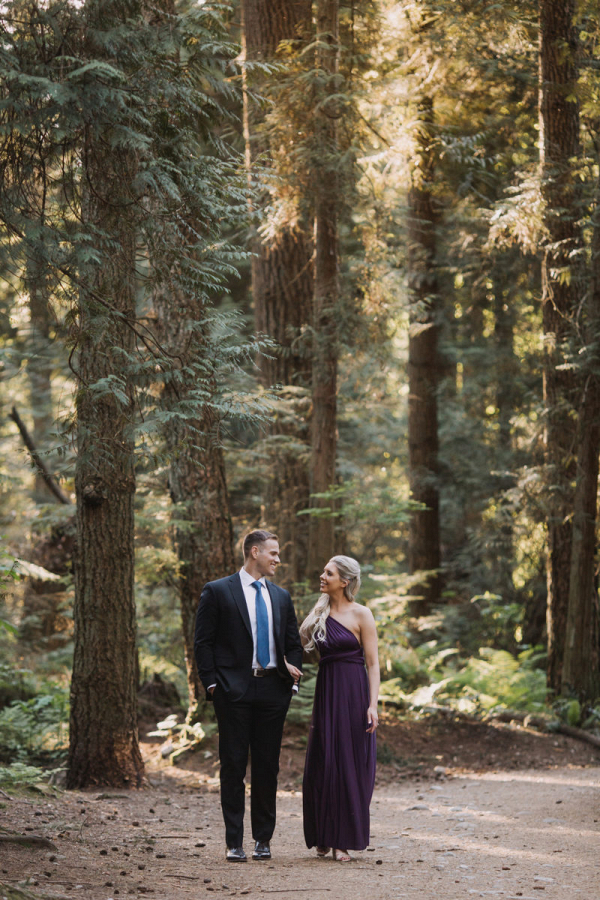 Woodsy and coastal engagement session in Vancouver