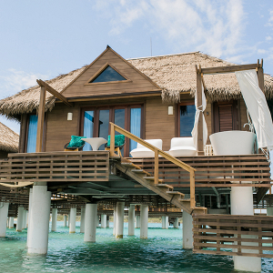 destination weddings, over the water bungalow, sandals resort