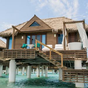destination weddings, over the water bungalow, sandals resort