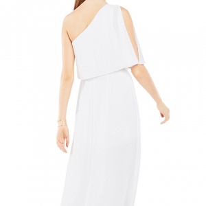 BCBG 'Secha' One-Shoulder Georgette Gown