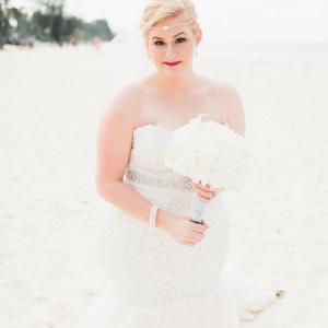 Blue and Gold Coastal Destination Wedding in Dominican Republic
