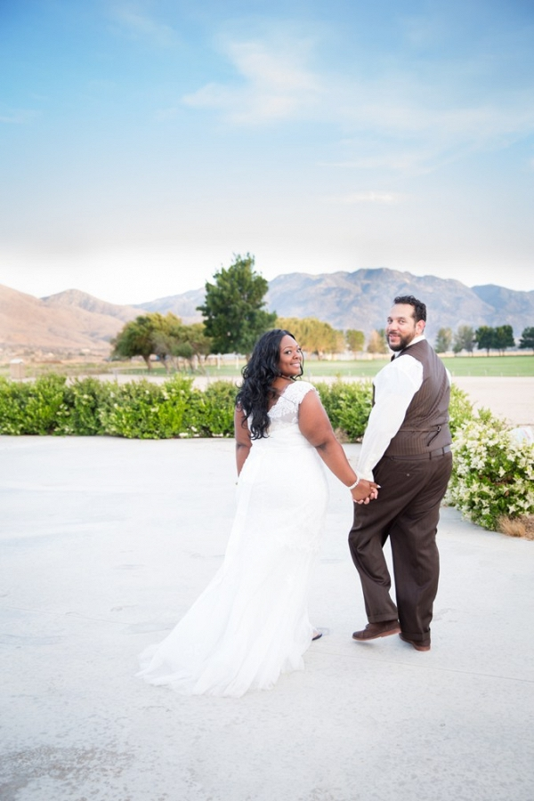 Desert Wedding in California featuring a plus size bride