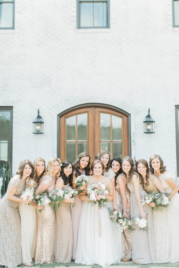 plus size bride, willowby by watters, mismatched bridesmaids, asos, rent the runway, nordstrom, BHLDN