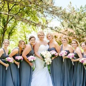 gray wedding on Pretty Pear Bride