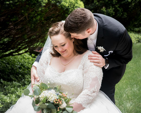 Joyful Navy and Green Garden Wedding