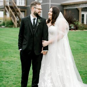plus size bride, plus size wedding dress, essense of australia wedding dress.