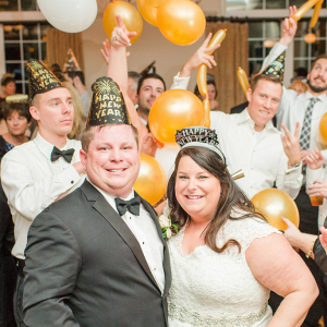 Festive NYE Virginia Wedding