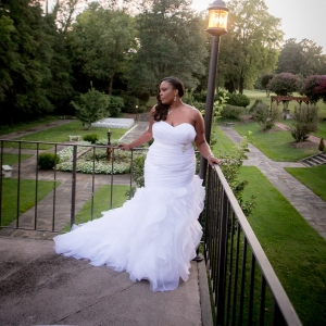 plus size bride in mori lee mermaid dress