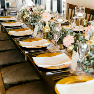 Romantic Blush and Gold Vineyard Wedding