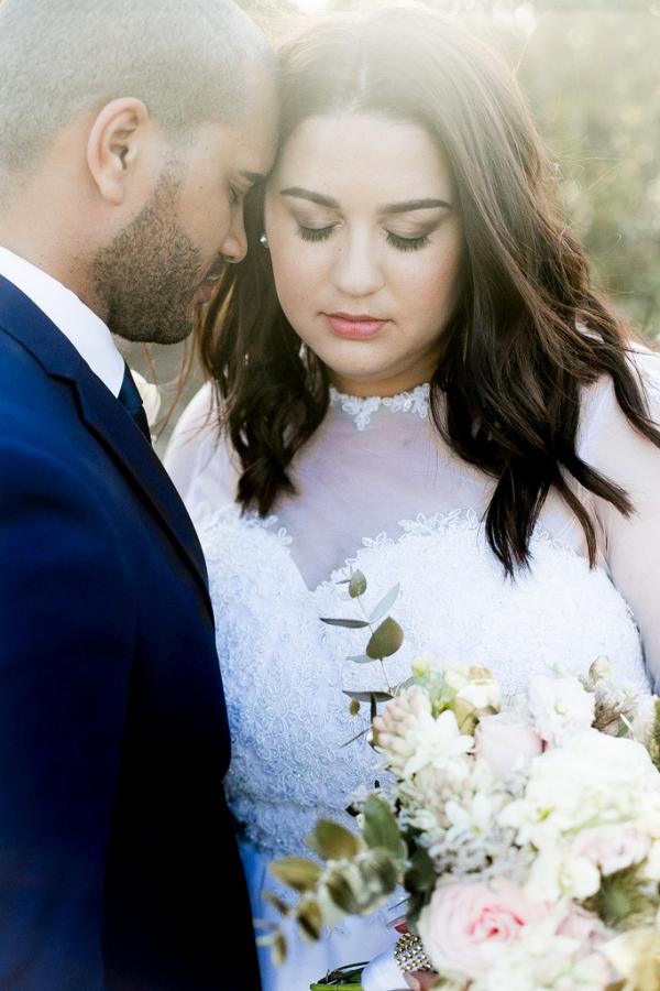 Romantic Blush and Gold Vineyard Wedding