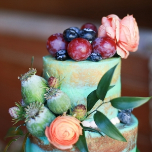 Fruit, Flowers, and Cake