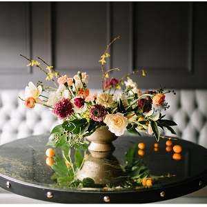 Loose, organic centerpiece
