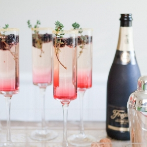Blackberry Thyme Sparkler Recipe from The Effortless Chic