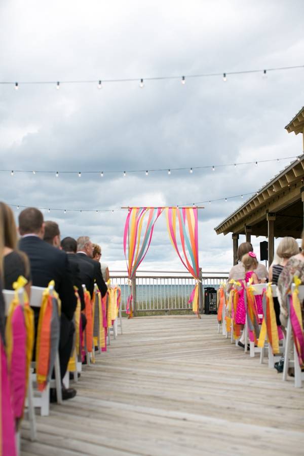 Colorful handmade wedding at Camp Blodgett!