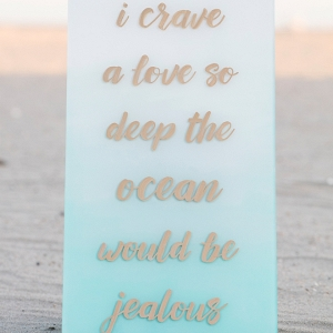 We're in LOVE with these gorgeous and easy to make hand lettered acrylic wedding signs!