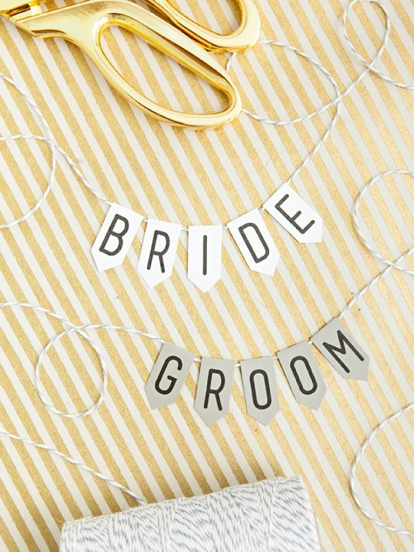 Darling free printable alphabet banner, perfect for wedding details!