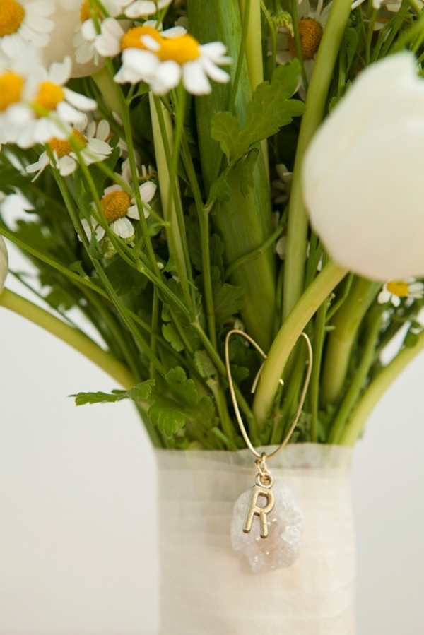 Learn how to make personalized charms for your bridesmaids bouquets!