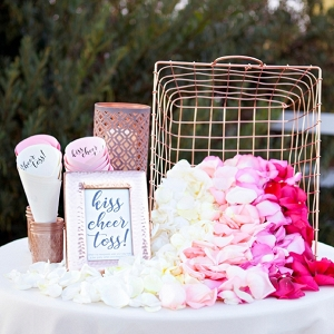 Awesome DIY idea for a petal toss bar!