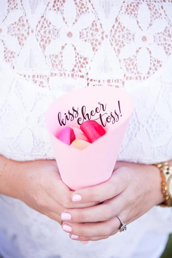 Awesome DIY idea for a petal toss bar!