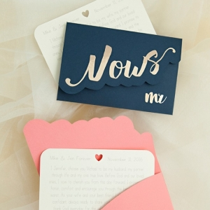 Learn how to make your own custom vow notebooks!