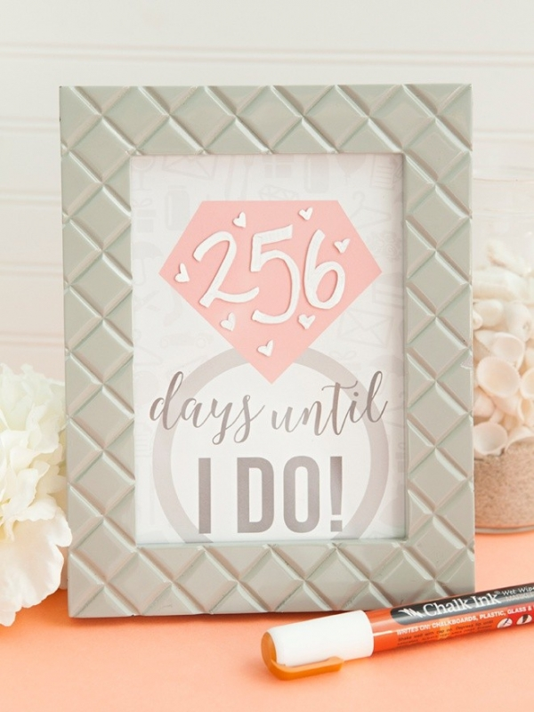 Learn how to make this adorable DIY wedding countdown sign!