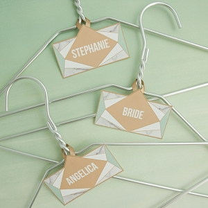 Edit and print these FREE bridal party hanger tags!
