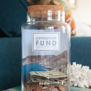 Learn how to make your own Adventure fund photo jar!