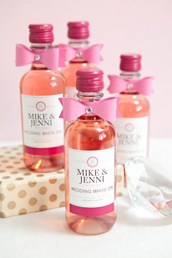 Learn how to make your own mini-wine bottle favors!