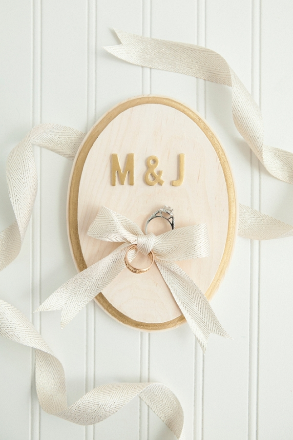 Learn how to make your own personalized ring bearer plaque!