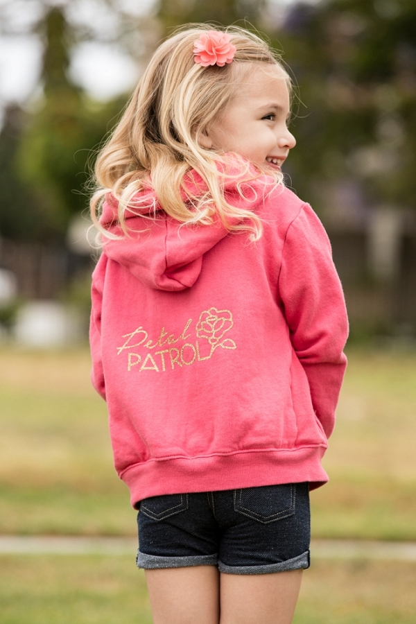 Check out this adorable DIY Petal Patrol sweatshirt!