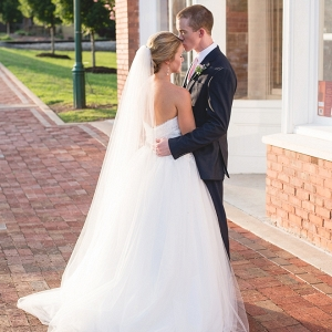 We love this sweet snap of the Bride and Groom after their ceremony in Georgia!
