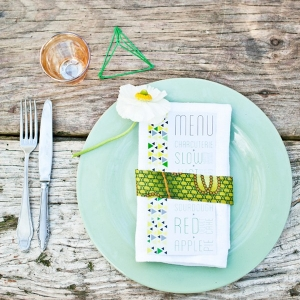 Rustic African print place setting