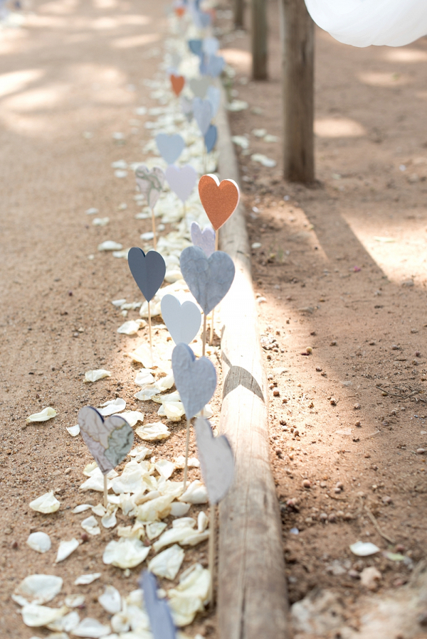 Aisle Lined with Paper Hearts