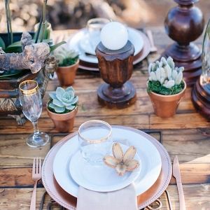 Rustic Wood Tablescape