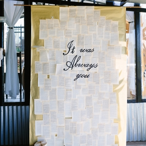 Book Inspired Ceremony Backdrop