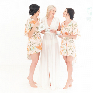 Bridesmaids in Floral Print Robes