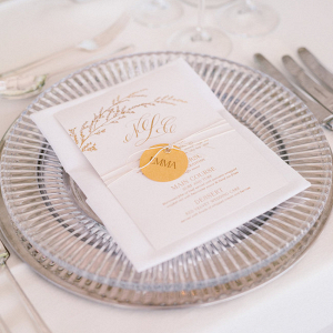 Place Setting with Glass Chargers
