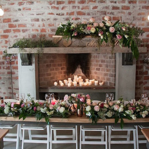 Wedding Reception with Fireplace