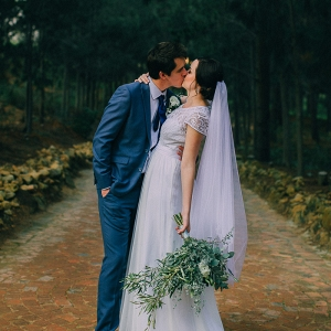 Bride & Groom Kissing
