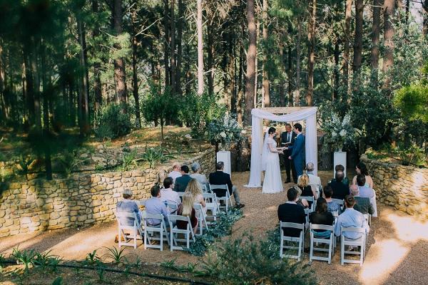 Intimate Forest Wedding Ceremony