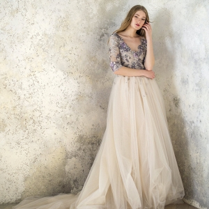 Floral Wedding Dress by Angellure Bridal
