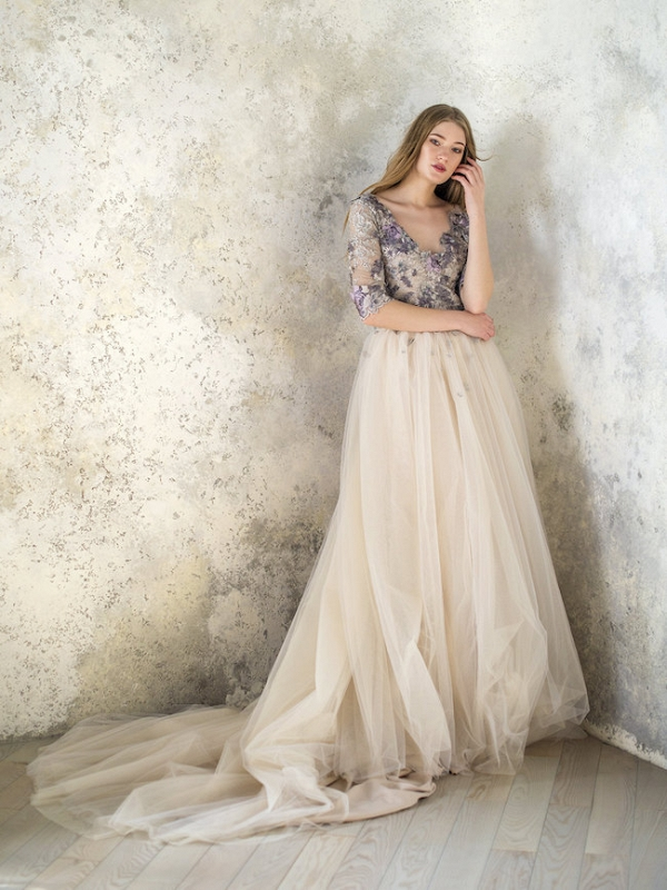 Floral Wedding Dress by Angellure Bridal