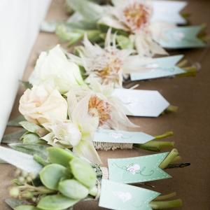 Blushing bride boutonnieres